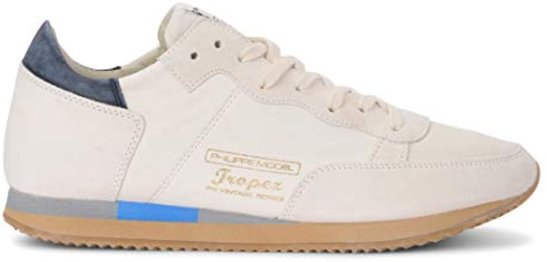 Philippe Model scarpe da ginnastica Tropez Vintage West in Suede E Pelle Bianca, Taglia UK  | Buona qualità  | Uomini/Donne Scarpa