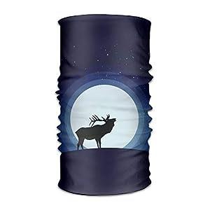 Ncutakuzvmr Deer and Moon Original Headband with Multi-Function Sports and Leisure Headwear UV Protection Sports Neck, Sweat-Absorbent Microfiber Running, Yoga, Hiking