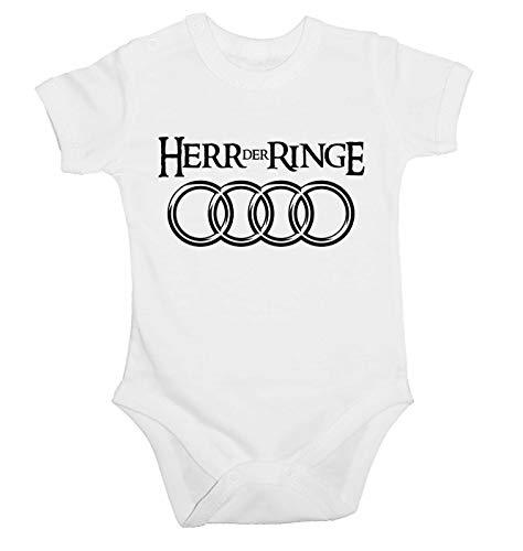 Lulchev Design Audi Herr Der Ringe Baby Body Prime Quality Kurzarm (Weiß, 86)