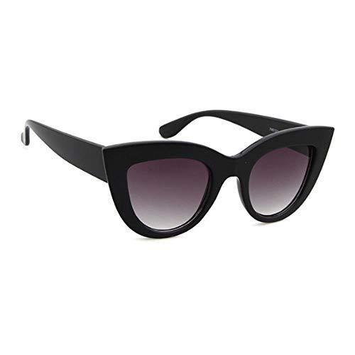 ZHOUYF Sonnenbrille Fahrerbrille Sonnenbrille Retro Cat Eye Sonnenbrille Damen Retro Schwarze Sonnenbrille Damenbekleidung Uv400, A