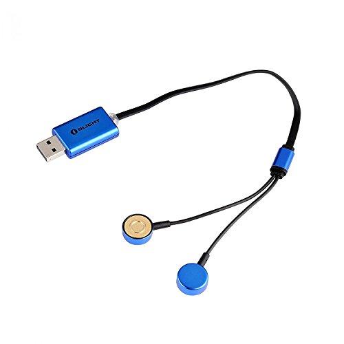 Galleria fotografica Olight UC Caricabatterie USB Universale Magnetico Per Batteire Ricaricabili 14430 14500 14650 16340 RCR123A 16650 18500 18650 18700 22650 25500 26500 26650 20700 21700 22500