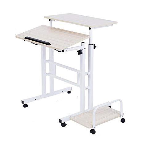 BinLZ-Table Stehen Sie Aufrechte Art-Computer-Notizbuch-Tischrechner-Bewegliche Bürotisch-Arbeit Kann Beweglichen Computer Erhöhen, Weißer Ahorn -