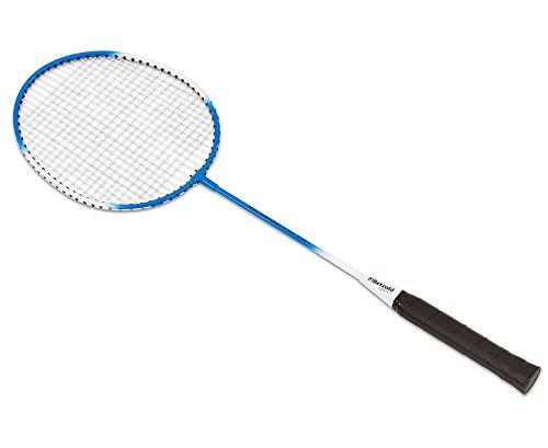 Betzold Sport Badminton Schläger, Federballschläger, Stabiler Stahl/Stahl-Schläger mit sichtbarem T-Stück