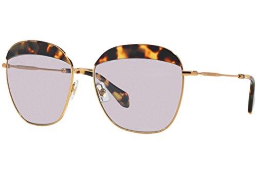 Miu Miu Damen MU53QS Sonnenbrille, Braun (Light Havana 7S03F2), One size (Herstellergröße: 59)