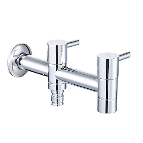 XZDXR Wasserhahn Waschmaschine Wasserhahn mopp Pool Wasserhahn Deutsch Seiko Kupfer wichtigsten einzigen kalten doppel Wasserhahn
