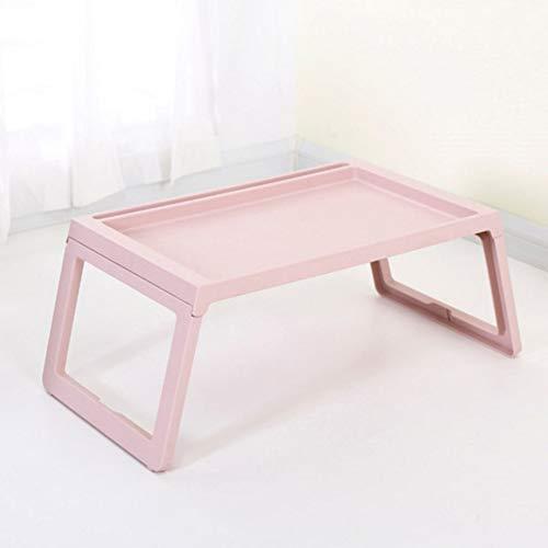 Rart Faltbare Laptop Tisch, Frühstück Tisch Tragbare Notebook-Computer-Schreibtisch Laptop Bett Tisch-geeignet für Bett,Sofa,Schreibtisch,Fußmatten,Wiese-Rosa 68x35.8x27.5cm(27x14x11inch) -