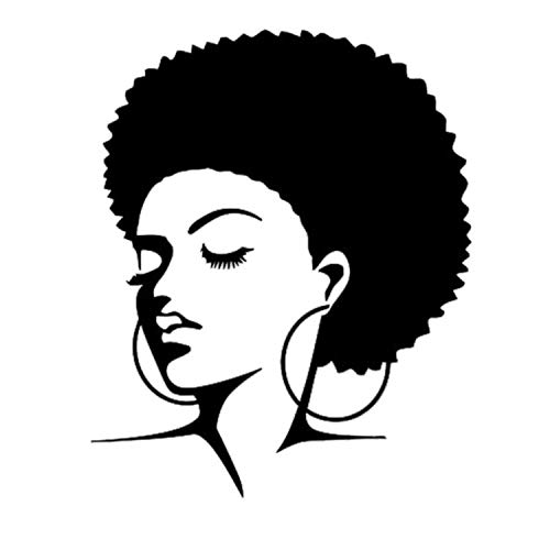 Black African Woman Wall Decal Tribal Girl Vinyl Sticker Decals Home Bedroom Interior Hairdressing Hair Beauty Salon Decor
