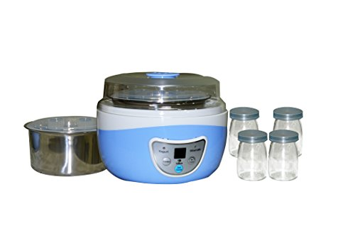Libra Digital 2 in 1 yogurt maker with 1000ml Capacity & 4 Glass Jars