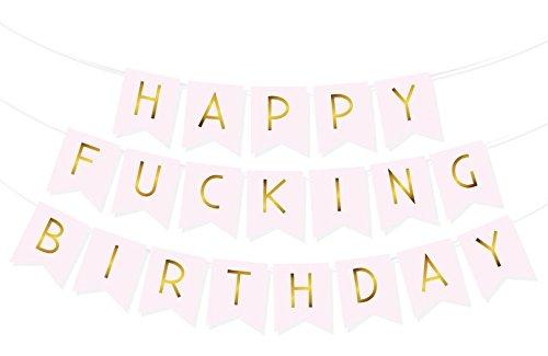 Happy FING Birthday Bunting Banner