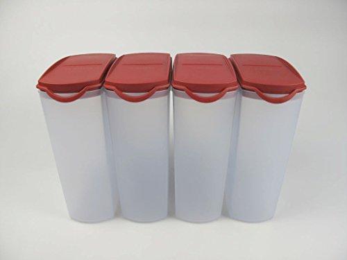 TUPPERWARE 4 x Eidgenosse Plus rot 2,2 L Vorratsdose Modular Tuppervision (4)
