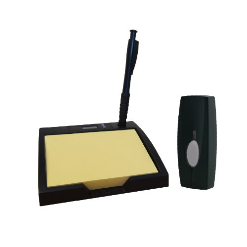 Byron Sentry BY403 60m Wireless Portable Pad and Pen Door Chime Kit with Digital Clock and 4 Sounds by Byron