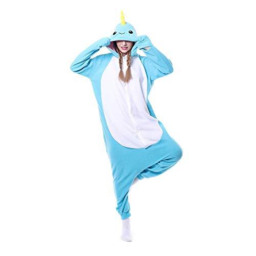 DASENLIN Pyjama Kostüm Cosplay Jumpsuit Overall Polar-Fleece, Einhorn, Cartoon, Verbinden Einen Mann, Eine Frau, Langärmeliger Winter, XL