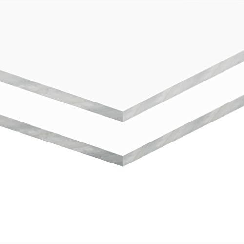 Tidyard- Klare Acrylglasplatten 2 STK. 40×60 cm Dicke von 5 mm Schlag- und UV-beständig für Innen- und Außenanwendungen | Acrylplatte Acryl Glasplatten