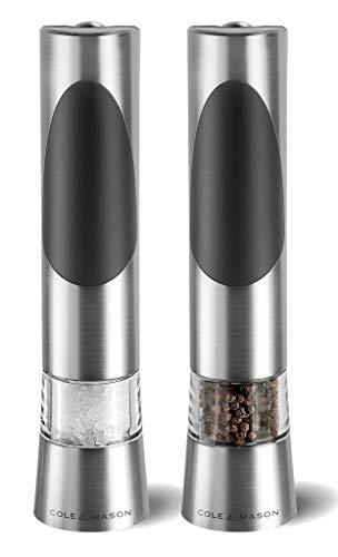 Cole & Mason Richmond Precision - Set de Regalo de Molinillo electrónico de Sal y Pimienta 215 mm