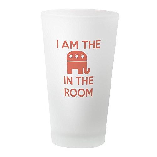 Klassische Republikanische Elefant (CafePress Bierglas I Am The Elephant in The Room frosted)