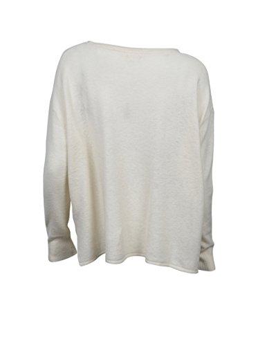 American Vintage Damen Oversized-Pullover Svansky in Creme-Weiß snow ball
