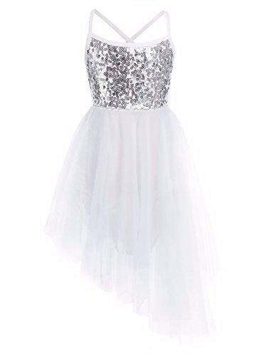 ttanzug Ballettkleid Mädchen Ballett Tanzkleid mit Röckchen Kleider 92 104 116 128 140 Elfenbein 128 (Tanzen Kostüme Für Kinder)