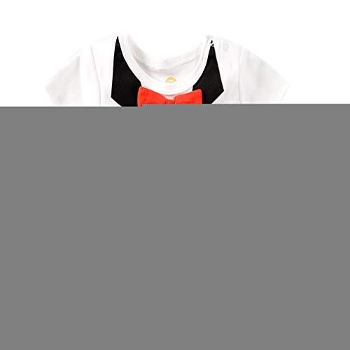 730ec11a20 Knowin-baby body Playsuit Sommer Falsche Zweiteilige Fliege für Herren mit  kurzen Ärmeln Baby Gentleman Fliege gedruckt Tops Bodysuit Strampler  Kleidung
