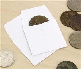 Coin Paper Envelopes Acid Free 2 inch square (50mm) x 100