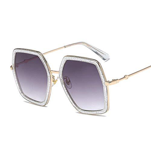 WERERT Sportbrille Sonnenbrillen Sunglasses Women Colorful Gradient Sunglasses Female Uv400 Eyewear Retro Irregular Octagon Sunglasses