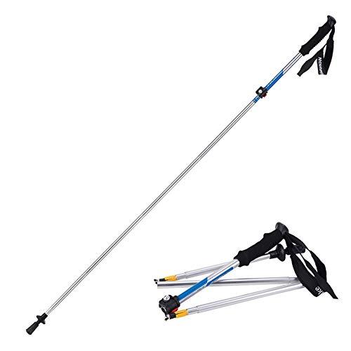 FENGMM Professioneller Lock Trekkingstock Ultraleichter Schwammgriff Fünfteiliger Faltstock,B (Einfache Menschliche Rod)