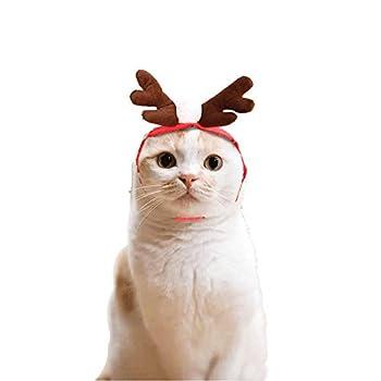 squarex pour Animal Domestique Chat Chien Chapeau écharpe Rouge Costume de Noël Ensemble Vêtement de Petits Animaux, ou pour Animal Domestique Cape, ou pour Animal Domestique Chapeau