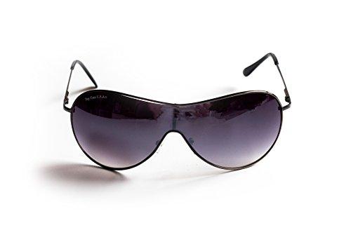 Piloten-Brille Ski-Brille Sonnen-Brille Flieger-Brille Silber Getönt UV-Schutz 400 ca. 16 cm Breit Herren Damen Unisex Cosplay Trend-Brille One (Brille Flieger)