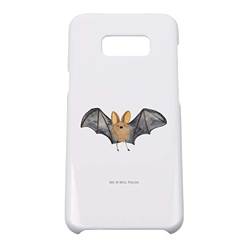 Mr. & Mrs. Panda Hülle, Handycover, Samsung Galaxy S8 Plus Handyhülle Fledermaus Flügel - Farbe Weiß -