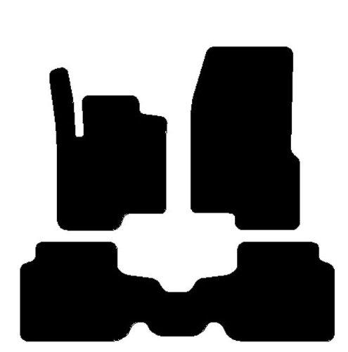Smart Forfour Alfombras para coche con traseros entero, juego completo de alfombrillas sobre tamaño de moqueta negro