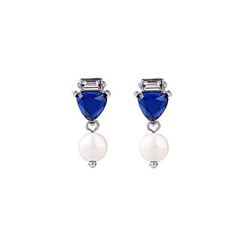 WOVP Ohrringe Blaues Dreieck Ohrring Jacken Frauen Cabrio Ohr Piercing Trendy Ohrringe Schmuck