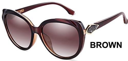 LKVNHP Herzform Kunststoff Blau Schmetterling Sonnenbrille Damen Polarisierte Retro Uv400 Mode Brille FrauWPGJ120 BRAUN