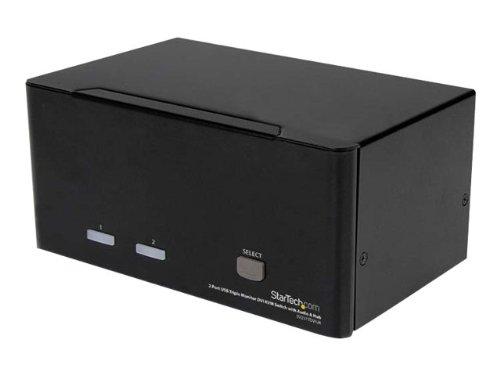 STARTECH.COM 2 Port Dreifach Monitor DVI USB KVM Switch mit Audio und USB 2.0 Hub - Tripel Monitor KVM Umschalter (Iogear Dvi Usb Kvm)