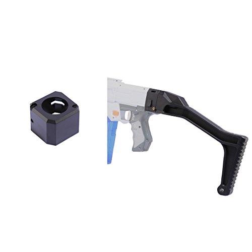 Worker Shoulder Stock, Foxom Molde de Espada Corta Shoulder Stock Fácil Instalación Gunstock + Conector de Cola Reemplazo pour Nerf Toy Gun