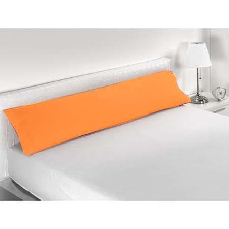 Miracle Home Funda Almohada, Suave y Cómoda, Algodón 50% Poliéster, Naranja, 90 cm