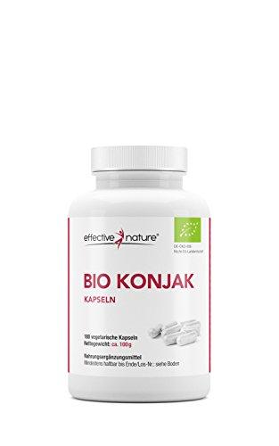 effective nature Bio Konjak Kapseln - Vegetarisch - Glucomannan unterstützt die Gewichtsabnahme -...