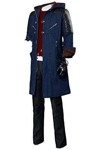 Tianxinshop Nero V Devil May Cry 5 Full Set Cosplay Kostüm für Erwachsene Nero Jacke