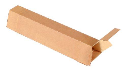 progressPACK Trapez-Versandverpackung Premium Extra PP T00.02 aus doppelter Wellpappe, DIN A2, 435 x 105/55 x 75 mm, 20-er Pack, braun