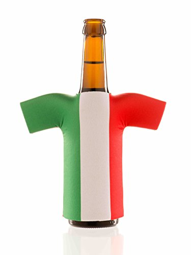 Flaschentrikot Italien - Flaschenkühler, Bierkühler, Getränkekühler aus Neopren - Fanartikel und Partyspaß zum Grillen, Public Viewing und (Spaß Ideen Passenden Kostüm)