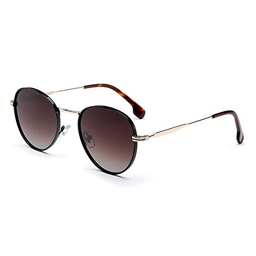 ETH UV400 Polarized Sunglasses Weibliche Modelle Driving Mirror Metallrahmen Sonnenbrillen dauerhaft (Farbe : Brown)