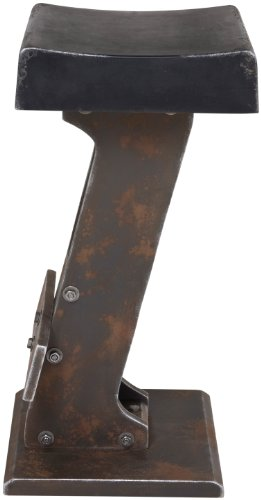 KARE Barhocker Key Black 75779, moderner, ausgefallener Design-Barstuhl im Vintagelook, rustikaler Tresenhocker aus MDF Holz, schwarz, (H/B/T) 76x37x37cm