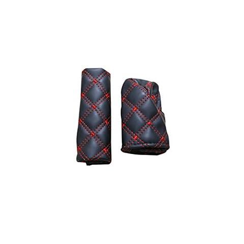 WINOMO Car PU Leather Shift Knob and Handbrake Covers Set