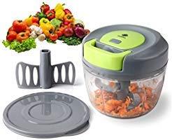 kilokelvin Hachoir Manuel de Légumes Fruits, Hachoir Manuelle Cuisine Coupe oignon/Coupe ail, Mini hachoir mixeur, Machine à...