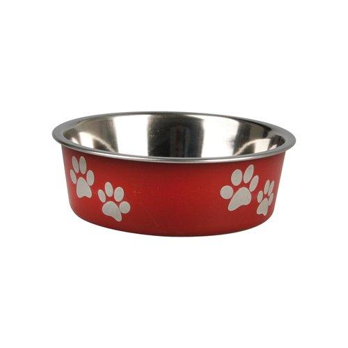 FLAMINGO Edelstahlnapf BELLA rot-metallic XXL für Hunde und Katzen Bella Küche