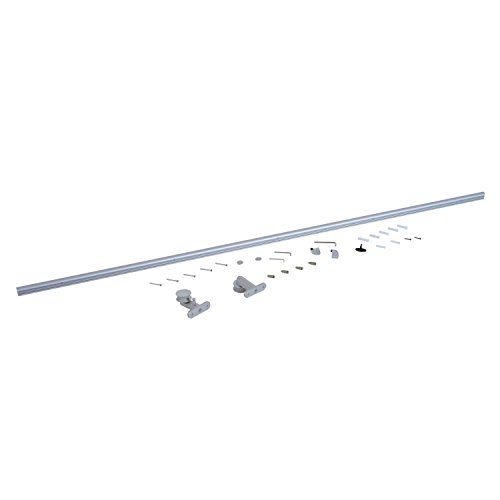 HOMCOM Kit Instalacion Puerta Aluminio Plateado 200x3,15x2,5cm