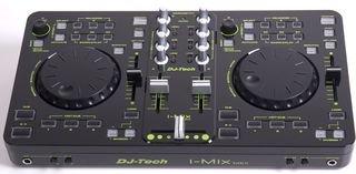 DJ-Tech i-mix MKII DJ console/controller con scheda audio USB (cavo USB, cavo RCA Stereo e Deck adance software)