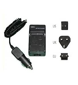 Mains Battery Charger for Sony DCR-TRV14E Handycam Camcorder - 2 Hours quick charging - UK, USA, EU plugs and car charger Included - AAA Products - 12 Month Warranty