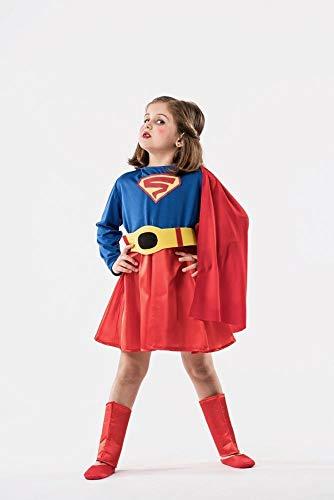 EL REY DEL CARNAVAL, SL Supergirl Umhang Kostüm für Mädchen G-(9/11 ()