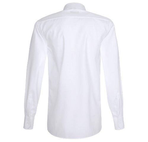 eterna Langarm Hemd Modern Fit Popeline Unifarben Weiß