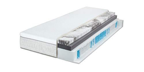 *Breckle Sinfonia 1000 TFK Gel Turn 7-Zonen Boxspring-Matratze H2/H3 integrierter Wendetopper, Größe:100×200 cm*