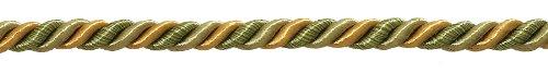 Goldene Farbe Dekorative Trimmen (Medium Olive Gold Barock Kollektion 5/40,6cm Zierkordel ohne Lippe Stil # 516bnl Farbe: Golden Olive-1755(Verkauft von der Hof))
